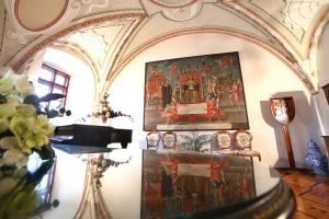 Vlastivedné múzeum v Hlohovci - Refektár kedysi kláštorná jedáleň